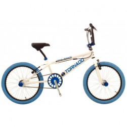 20 Freestyle Fiets Wit frame/Blauw